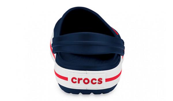 Kids Crocband White, Navy 2