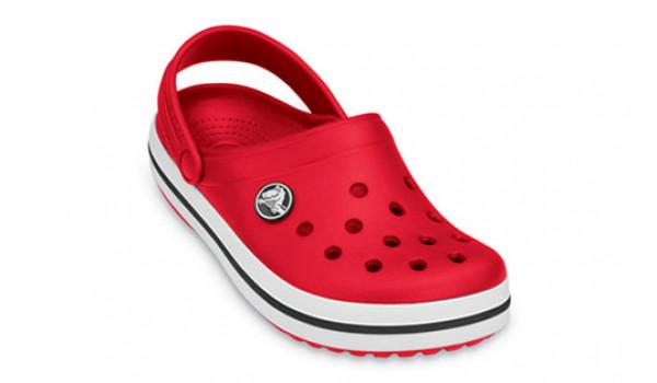 Kids Crocband White, Red 5