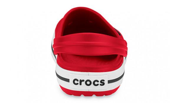 Kids Crocband White, Red 2