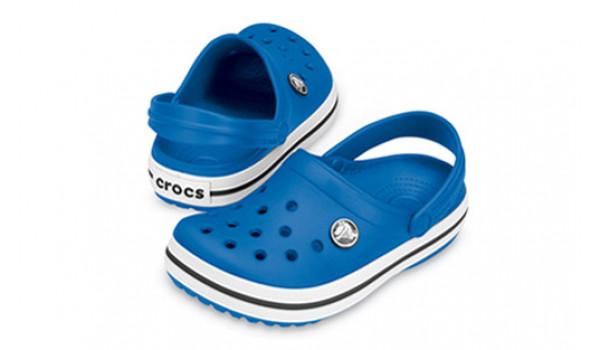 Kids Crocband White, Sea Blue/Sea Blue 4