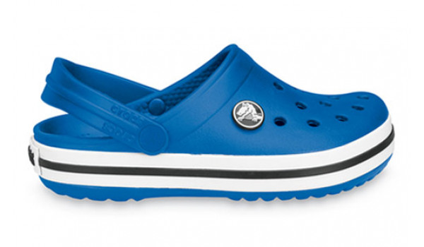 Kids Crocband White, Sea Blue/Sea Blue 1