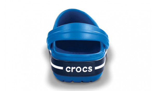 Kids Crocband White, Sea Blue/Navy 2