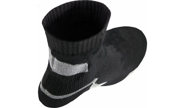 Thin Ankle Length Sock, Black/Grey 4