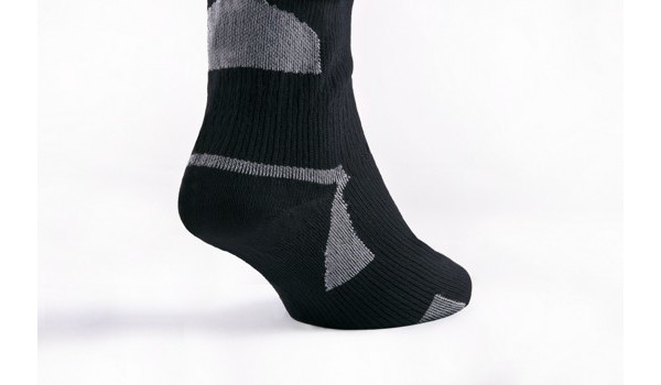 Thin Ankle Length Sock, Black/Grey 5