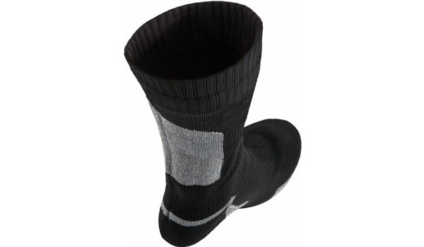 Thin Mid Length Sock, Black/Grey 4