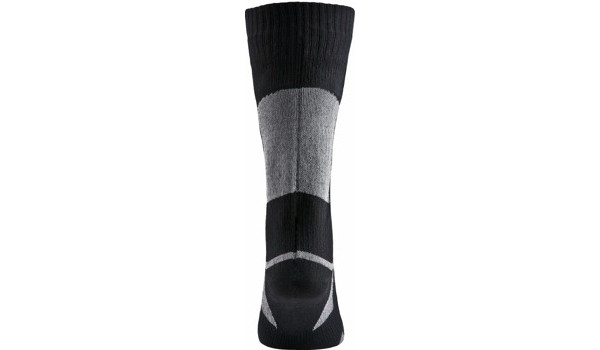 Thin Mid Length Sock, Black/Grey 3