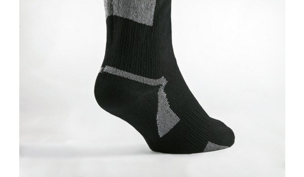 Thin Mid Length Sock, Black/Grey 5