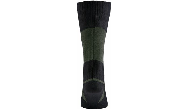 Walking Sock, Black/Olive 3