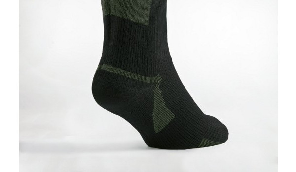 Walking Sock, Black/Olive 5