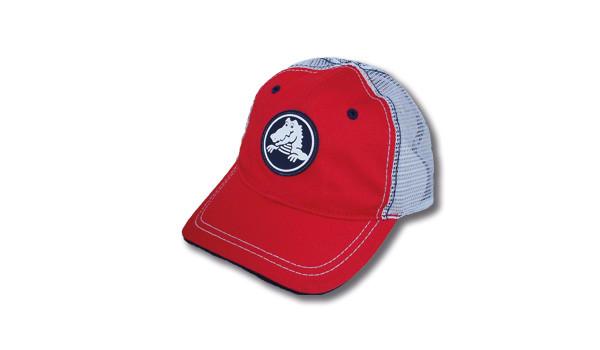 Kids Duke Trucker Cap, Red 1