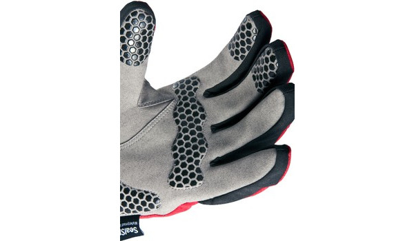 All Weather Cycle Glove Men, Red/Grey 5
