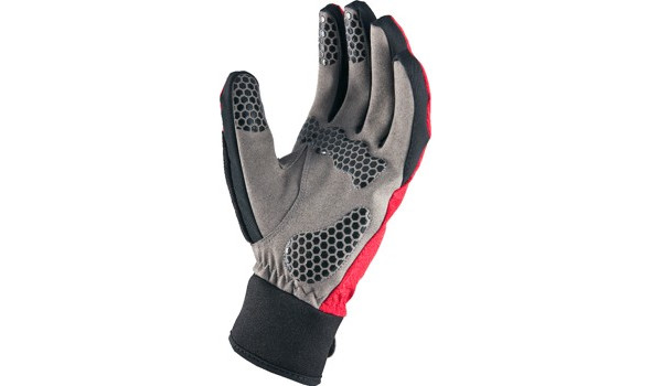 All Weather Cycle Glove Men, Red/Grey 6