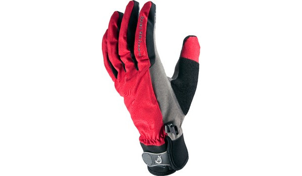 All Weather Cycle Glove Men, Red/Grey 4