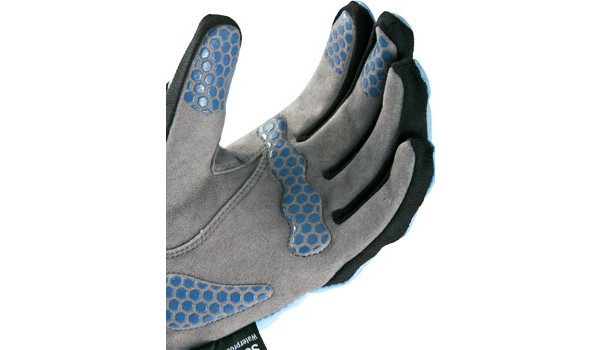 All Weather Cycle Glove Women, Black/Blue 5