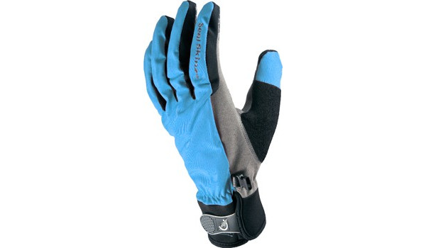 All Weather Cycle Glove Women, Black/Blue 4