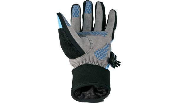 All Weather Cycle Glove Women, Black/Blue 3