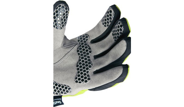 All Weather Cycle Glove Women, Black/Yellow 5