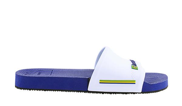 Slide Brasil, Marine Blue/White 2