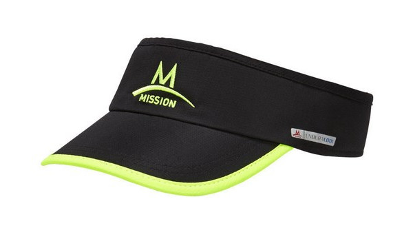 Cooling Visor, Black/High Vis Green 1